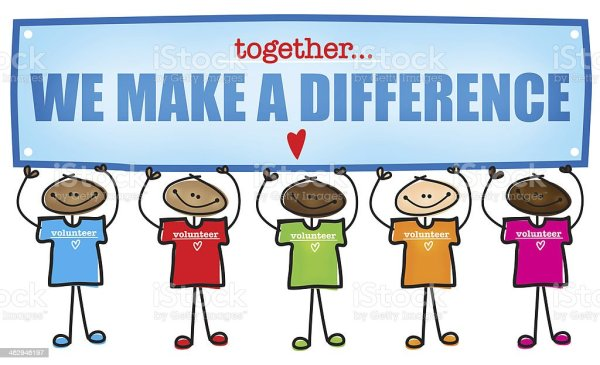 make difference volunteer stock