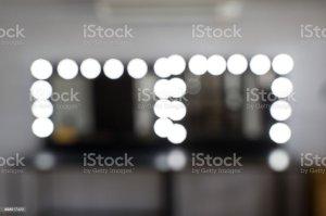 makeup bokeh blur table vanity background lamp