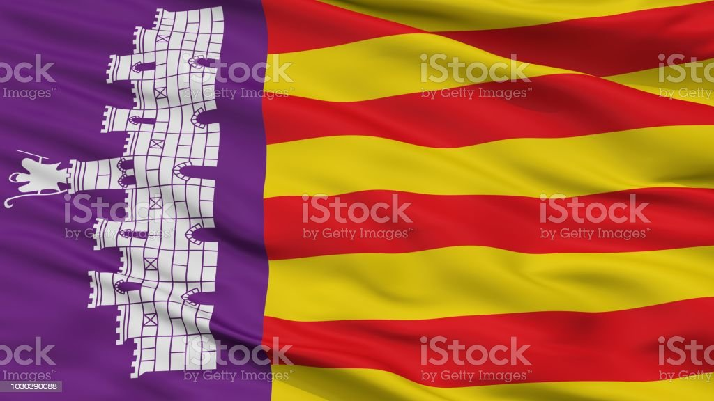 https www istockphoto com de foto mallorca stadt flagge spanien nahaufnahme gm1030390088 276069350
