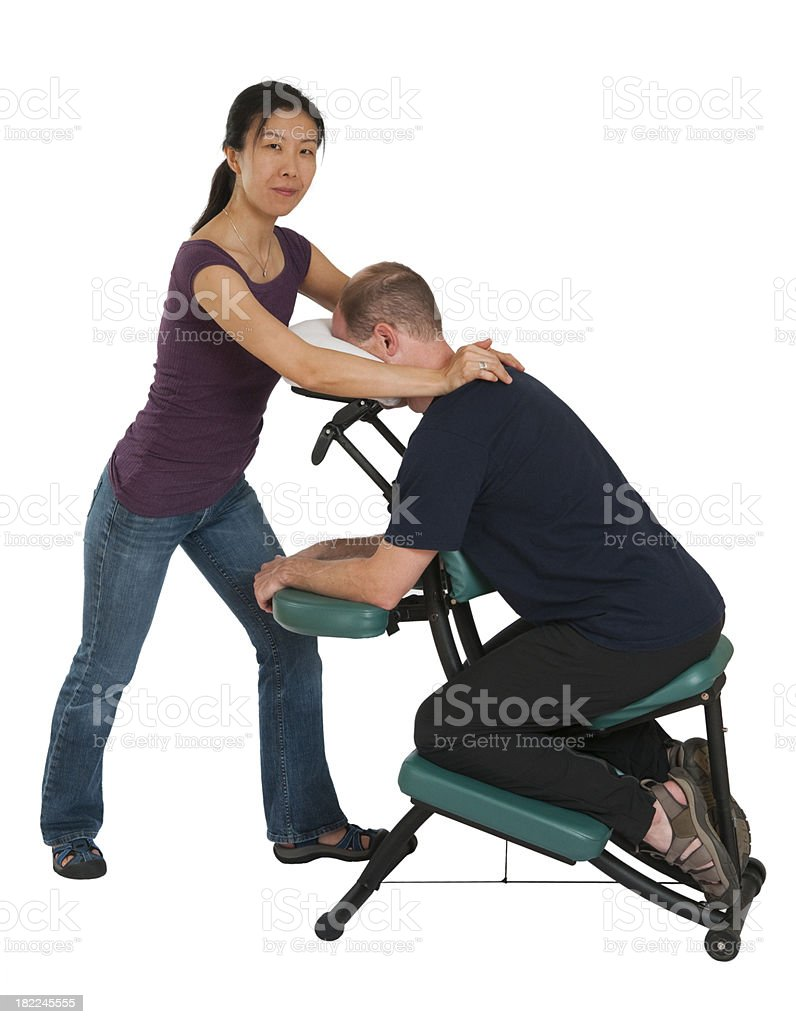asian massage chairs office chair cleaning services man getting neck in stock photo more image