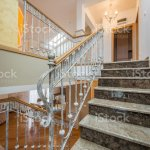 Marble Stairs With Wrought Iron Stair Railing In Luxury Villa Stock Photo Download Image Now Istock