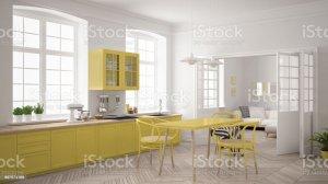 paint kitchen happy scandinavian minimalist painters colors cabinet living yellow protek
