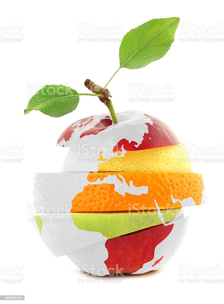 Mixed Fruit And Earth Stock Photo - Download Image Now ...