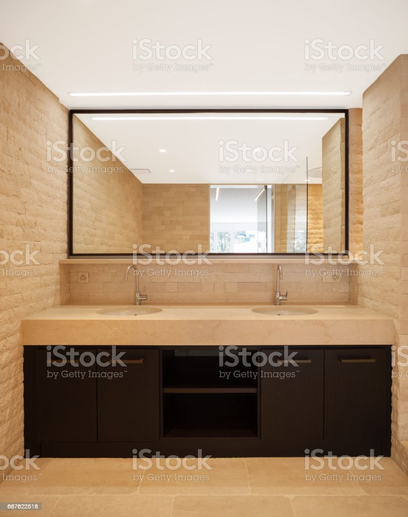 Modern Architecture New Empty Apartment Bathroom Stock Photo  More Pictures of Apartment  iStock