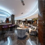 Modern Bar And Restaurant Interior Part Of A Hotel Designer Interior Stock Photo Download Image Now Istock
