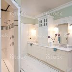 Modern Bathroom With Vaulted Ceiling Stock Photo Download Image Now Istock