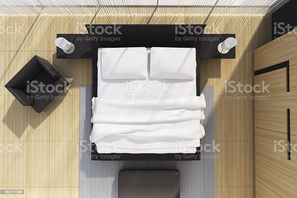 Modern Bedroom Top View Stock Photo  More Pictures of Apartment  iStock