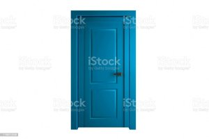 door isolated closed renovation