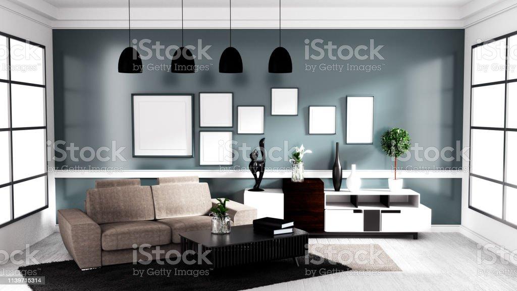 photo libre de droit de style contemporain moderne salon design dinterieur maquette rendu 3d banque d images et plus d images libres de droit de a la mode istock