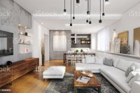 Modern Hipster Apartment Interior Stock Photo & More ...
