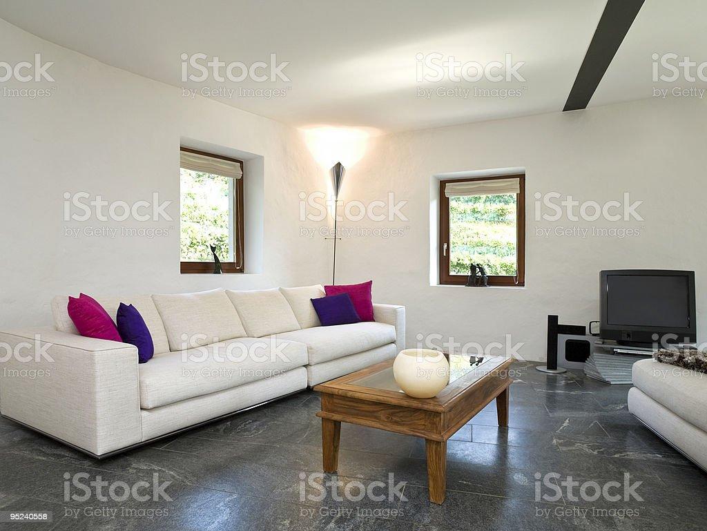 https www istockphoto com photo modern living room interior white walls and black tile floor gm95240558 10649895
