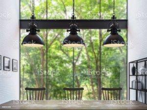 blurry background rendering loft dining modern 3d