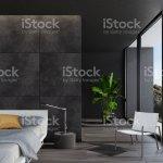 Moderne Luxuriose Schwarze Schlafzimmer In Einer Villa Am Meer Stockfoto Und Mehr Bilder Von Behaglich Istock