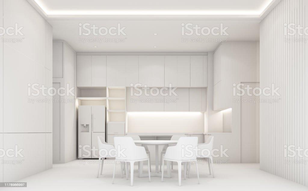 https www istockphoto com fr photo salle c3 a0 manger de luxe moderne et cuisine avec texture en bois et marbre tout gm1178986997 329742776