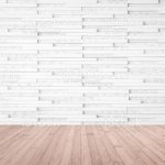 Modern Marble Tile Wall Pattern Textured Background In Light White Color With Wooden Floor In Red Brown Stock Photo Download Image Now Istock