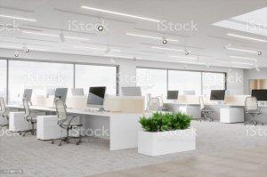 office space desk empty bureau interior buildings building imagens glass open ufficio getty istock backgrounds premium res services carpet beelden