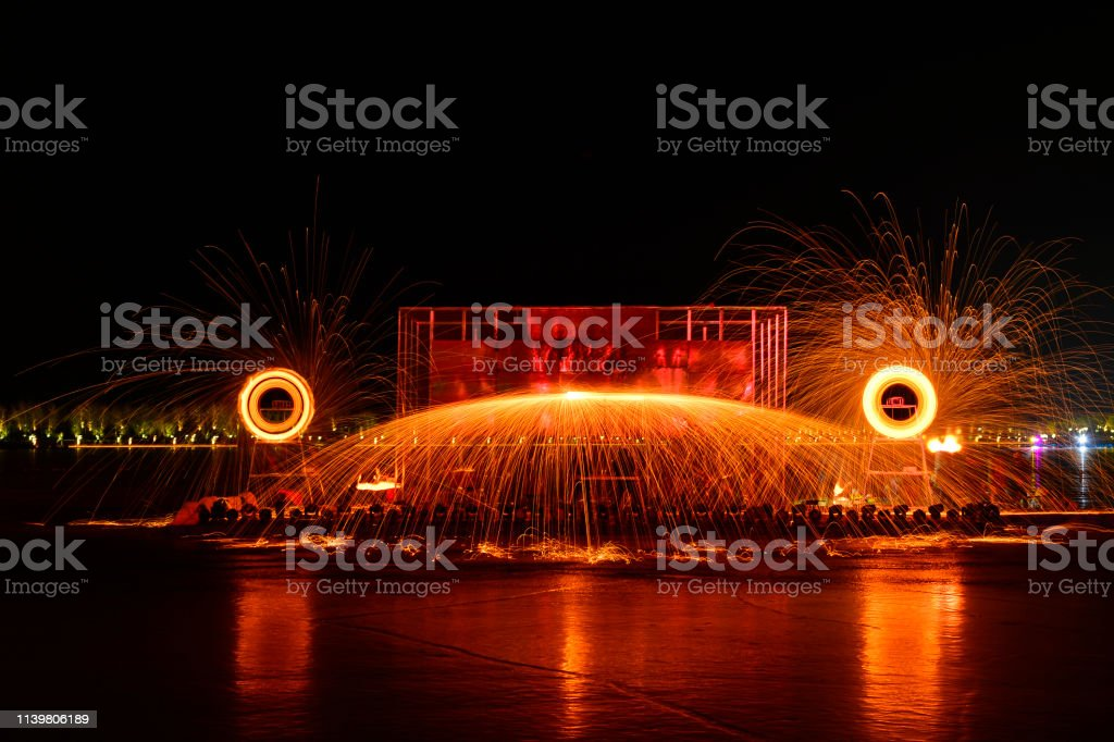 molten steel in the