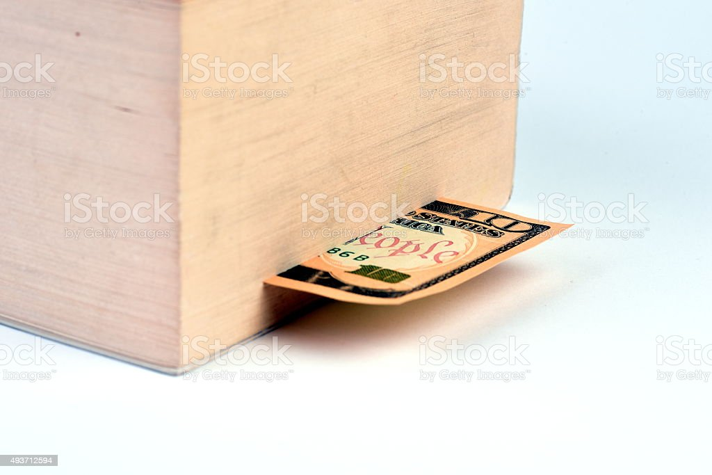 money as book separator