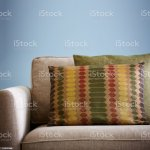 Multi Coloured Cusions On Neutral Sofa Stock Photo Download Image Now Istock
