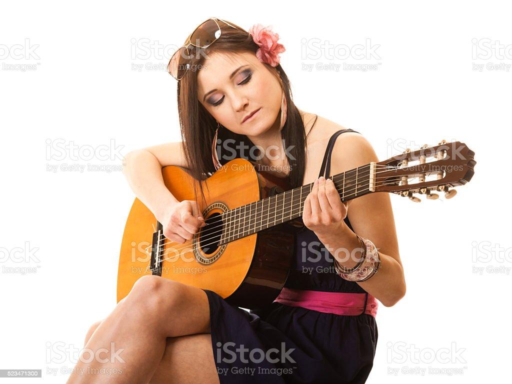 music lover summer girl