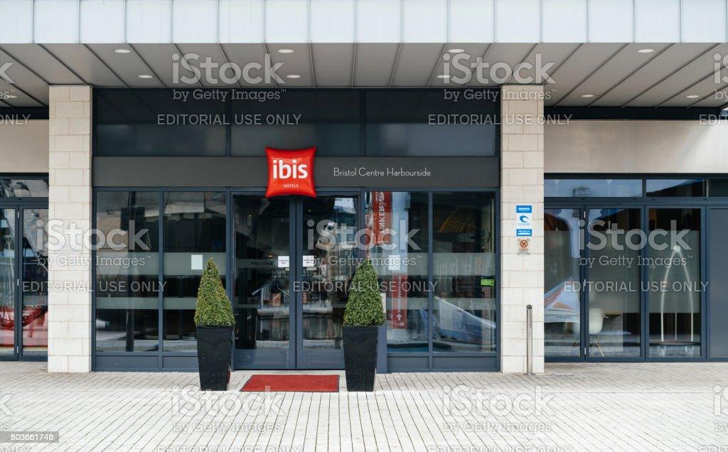 New Clean Ibis Hotel Entrance In United Kingdom Bristol