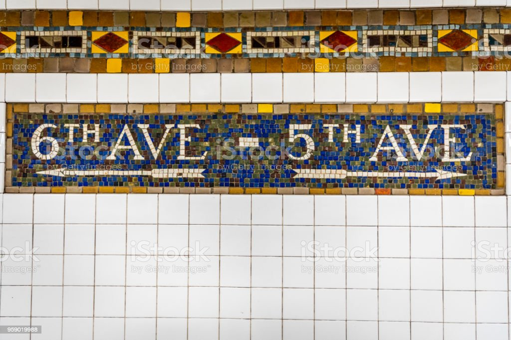 new york city subway tile directional stock photo download image now istock