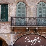 Old Cafe On Piazza Delle Erbe In Verona Stock Photo Download Image Now Istock