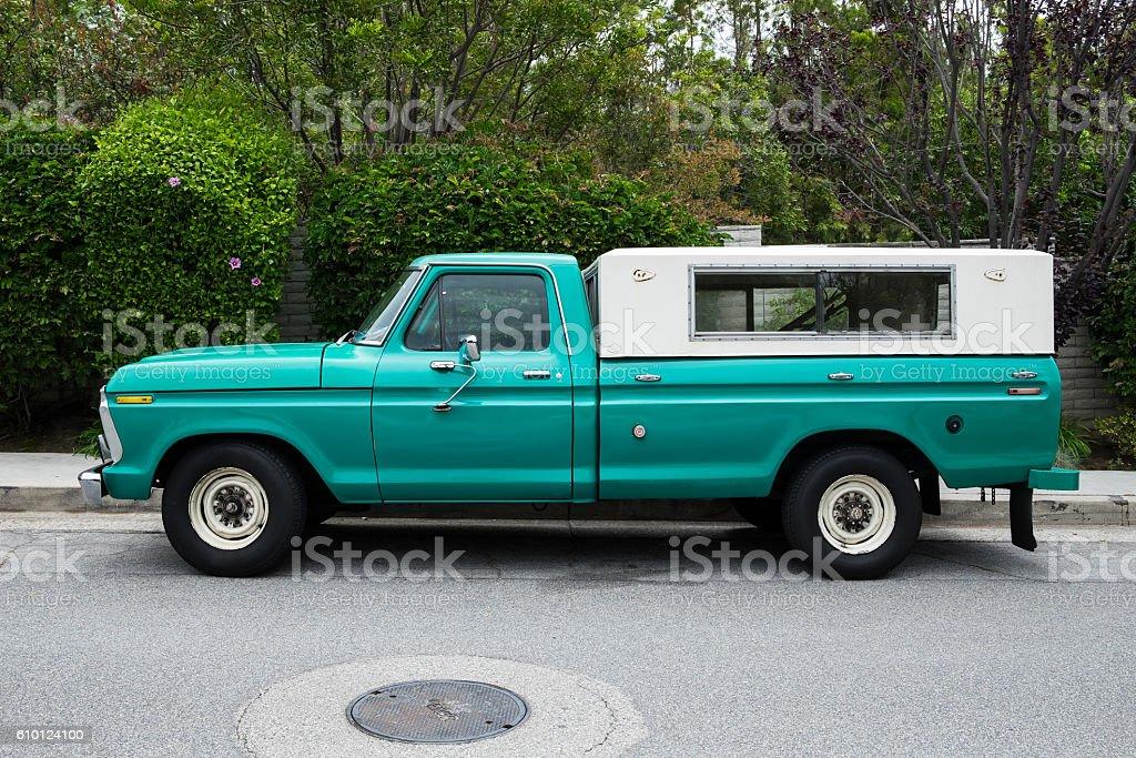 old green explorer truck