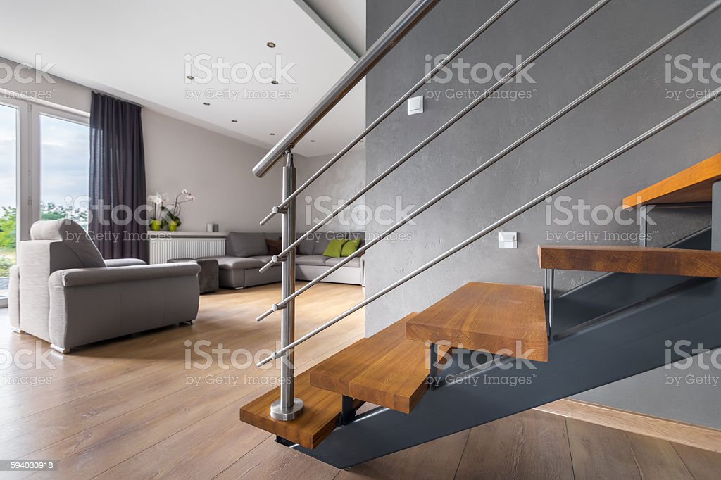 open plan staircase in living room 18 inch doll set with stock photo more pictures of image
