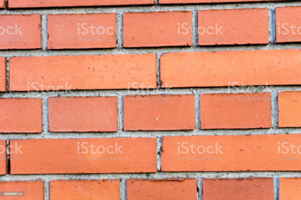 orange brick wall close