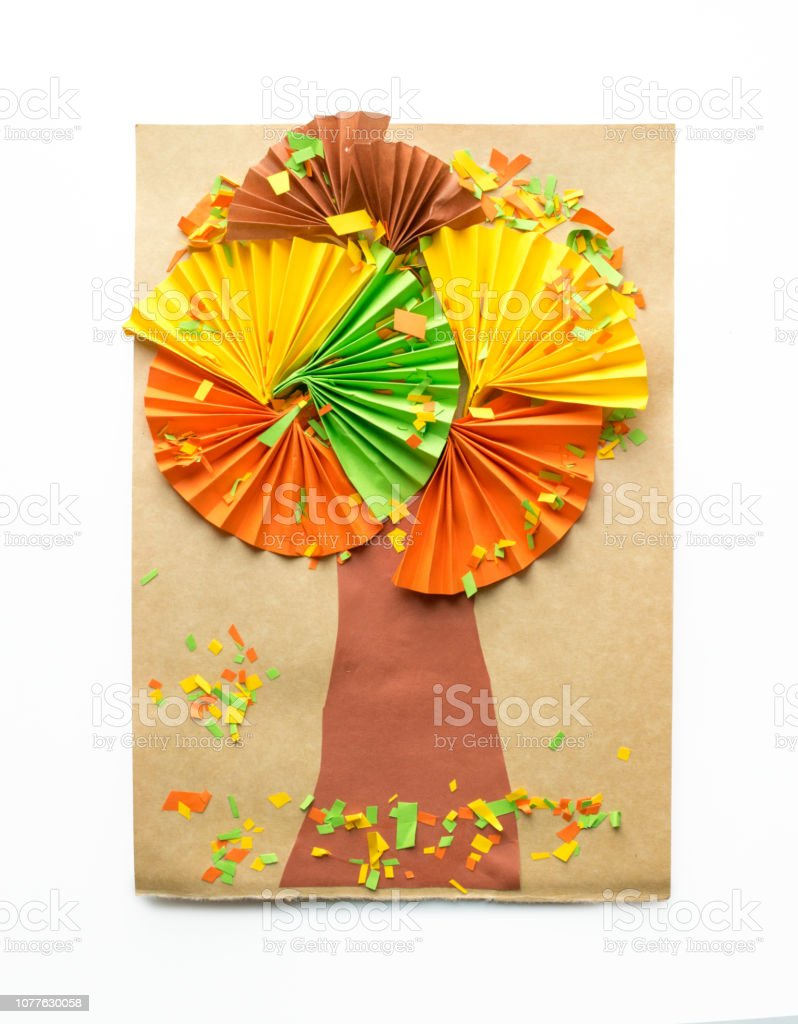 Origami Tree Creative Paper Projects For Kids Fun Educational Activities For Children Crafts Slime Art Projects Stock Photo Download Image Now Istock