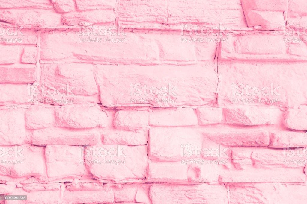 pastel pink brick wall