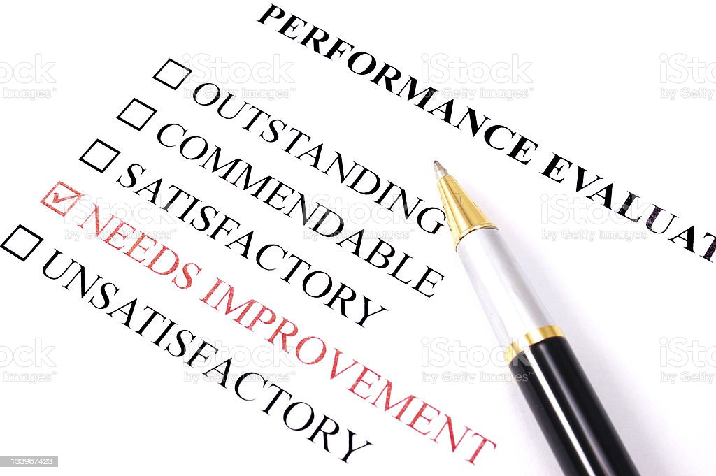 Performance Employee Evaluation Form Needs Improvement