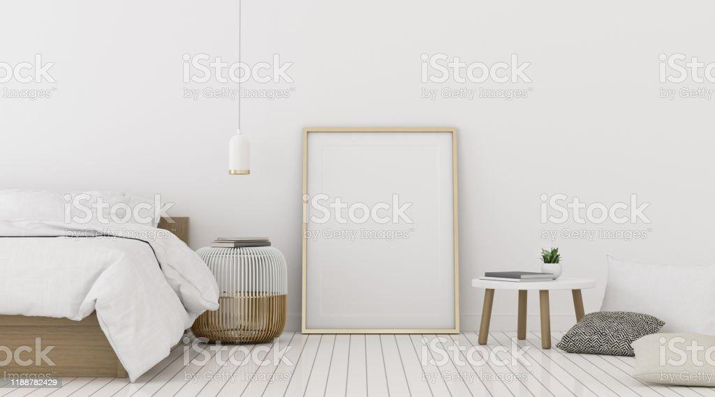 https www istockphoto com fr photo perspective de la chambre c3 a0 coucher moderne avec le cadre dimage et la lampe gm1188782429 336344273