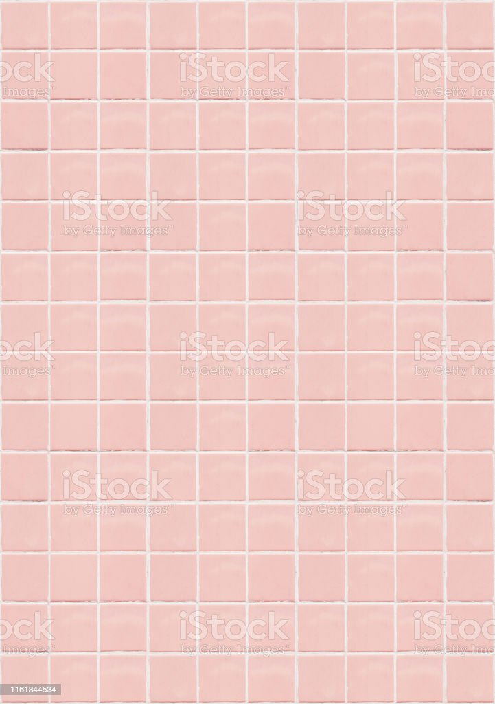pink ceramic square mosaic tiles texture background pink bathroom wall tile vertical picture stock photo download image now istock