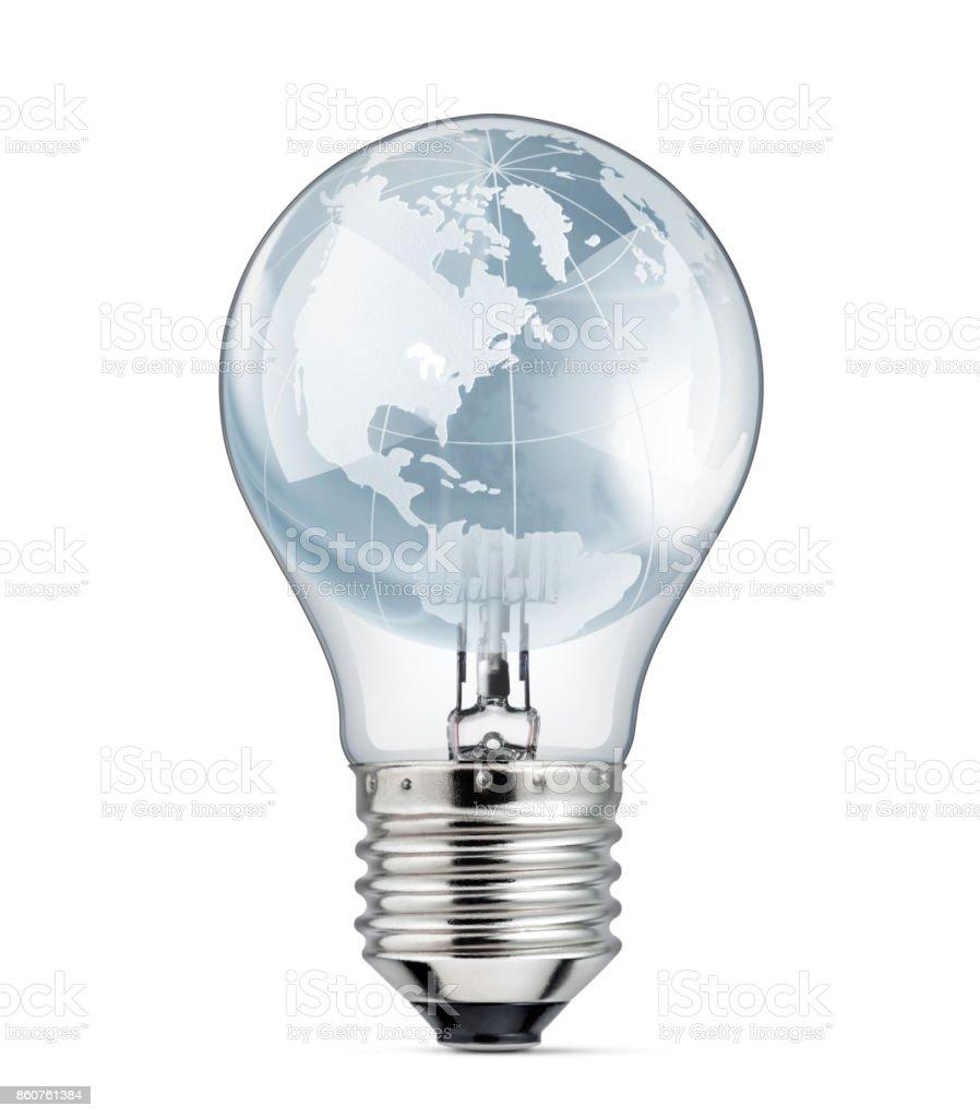 planet earth inside light