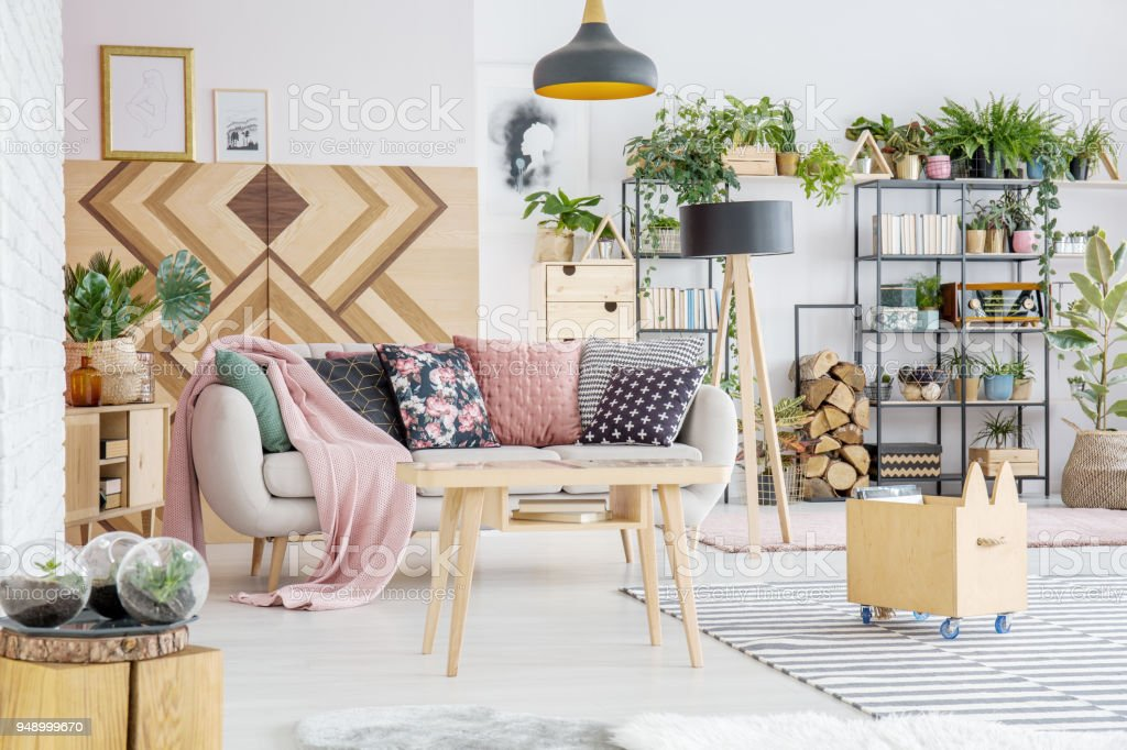 Plants In Living Room Stock Photo - Download Image Now ...