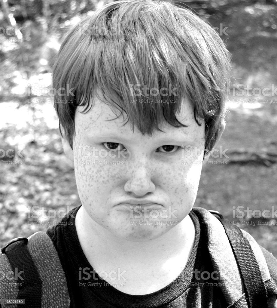 portrait of pouting child