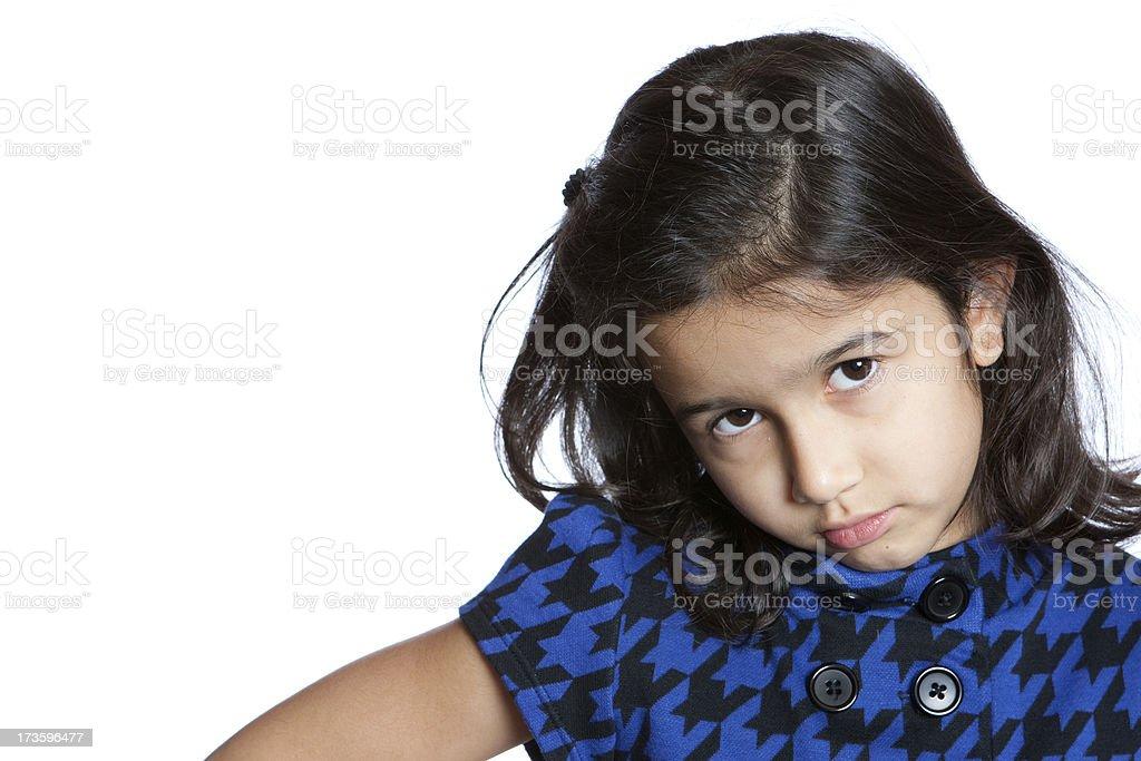 pouting child stock photo