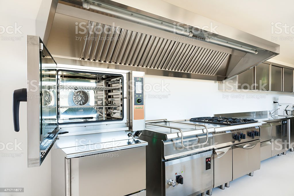 professional kitchen appliances bar ideas made from stainless steel stock royalty free photo