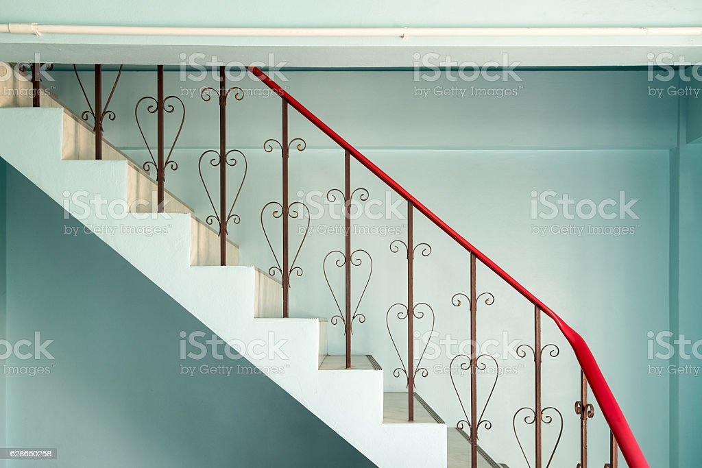 Railing Banister Stairs Down Curved Steel Stock Photo Download   Steel Railing For Steps   Modular   Wooden   Terrace   Modern Farmhouse   Loha