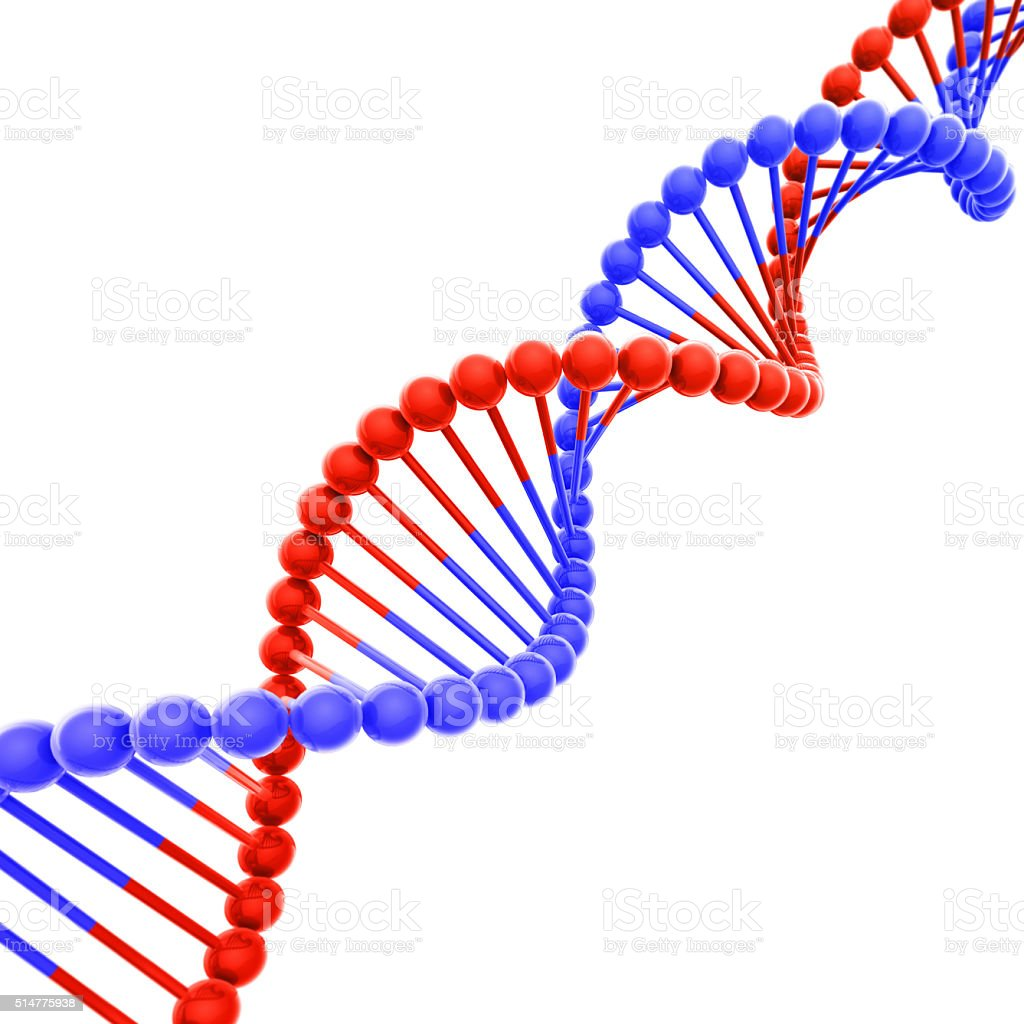 red and blue dna