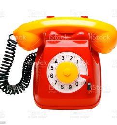 red and yellow rotary phone royalty free stock photo [ 1024 x 1010 Pixel ]