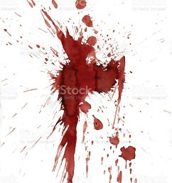 red blood splatter stain on white background stock photo [ 785 x 1024 Pixel ]