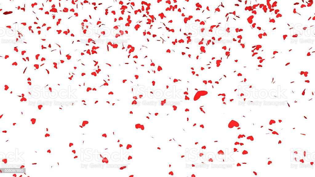 Rose Petals Falling Wallpaper Red Hearts Confetti Falling Stock Photo Amp More Pictures Of