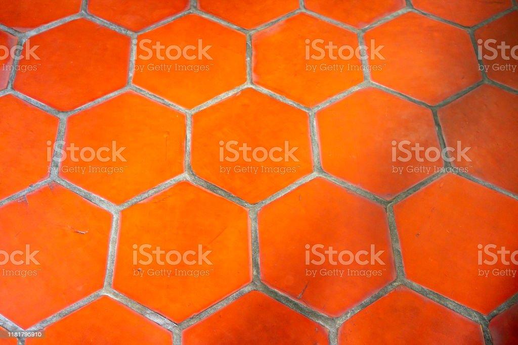 https www istockphoto com photo red hexagon terracotta tile outdoors gm1181795910 331598895