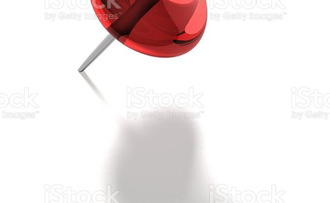 A Red Pin On White Background Stock Photo Download Image