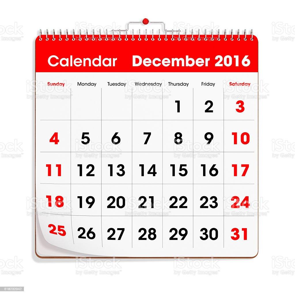 レッドウォールカレンダー日2016 年 12 月 2016年のストックフォトや
