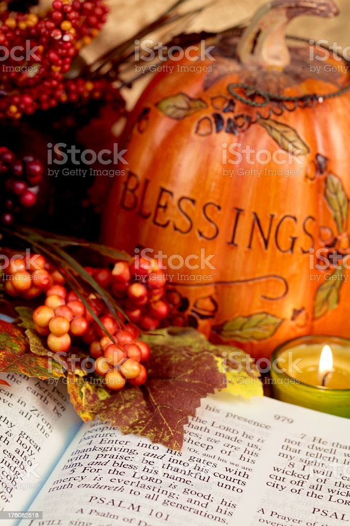 Fall Blessings Wallpaper Religious Thanksgiving Bible Scripture With Pumpkin