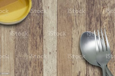 Restaurant Food Wood Table Top View For Menu Background With Space For Text Stock Photo Download Image Now iStock
